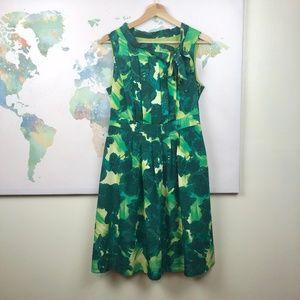 Merona Green A-Line Sleeveless Dress Size 8